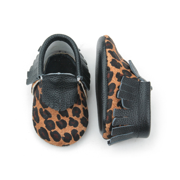 Baby Leather Leopard Moccasins