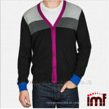 2014 hombres del OEM hizo punto el suéter de la rebeca de la cachemira