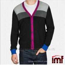 2014 OEM homens tricotados Cashmere Cardigan suéter