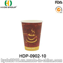 Taza de papel de café desechable de una sola pared de 10 oz (HDP-0902-10)