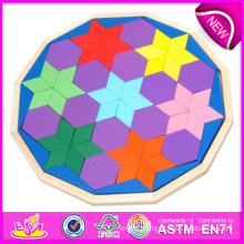 2014 New Wooden Color Puzzle Toys, High Quality Wooden Block Color Puzzle Toys, Hot Sale Wooden Block Color Puzzle Toys W13A051