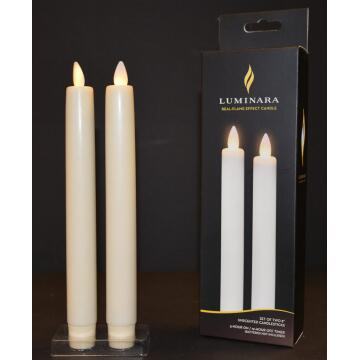 real wax luminara taper candle