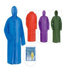 Promotional PVC ladies raincoat with logo For rain