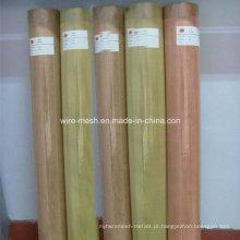 Malha de arame de latão / malha quadrada de cobre