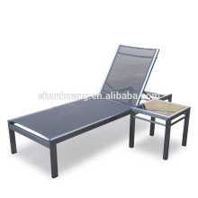 New designs aluminum sun lounger beach chairs outdoor chaise lounge