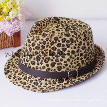 Customized Gentleman Fedora Hat, Sports Baseball Cap