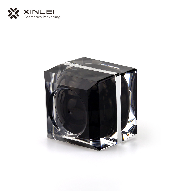 Square Wide Mouth Cosmetic Jar