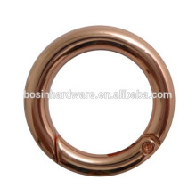 2015 Promotional Rose Gold Spring Ring For Bags