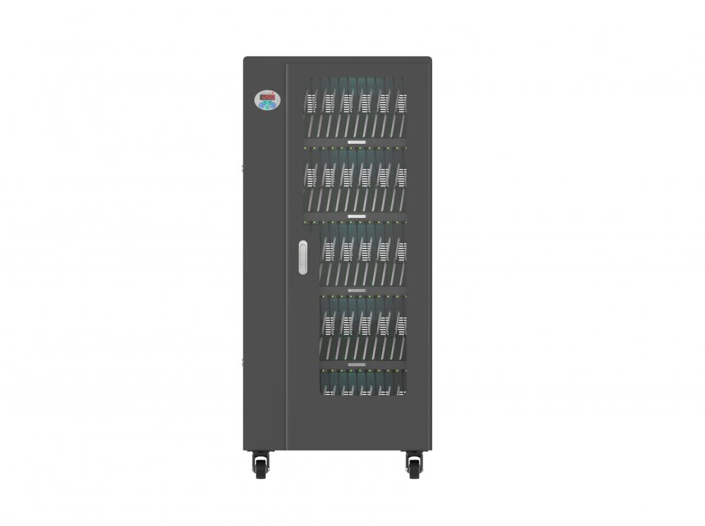 Smart charging cart storage 65pcs tablets in Classroom