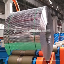 China Manufacture alloy 1060 tread aluminum diamond checkered aluminum coil