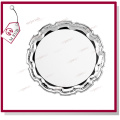 10′′ Metal Plate with Flower Rim