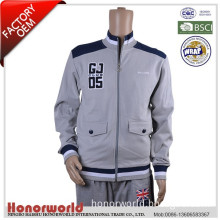 BSCI approved factory 100% cotton terry jacket golf / 100% cotton sports jacket for man / 100% cotton winter man jacket