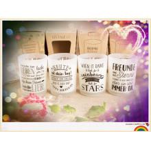 Duft OEM Design Glas Glas duftenden Soja Kerzen Großhandel