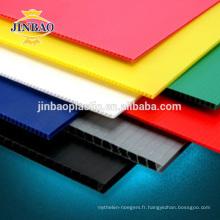 JINBAO protection de sol coloré en plastique pp feuille de toiture 12mm