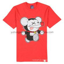 Camiseta de algodón de algodón al por mayor impresa