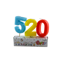 Huaming Wholesale Colorful Numberal Birthday Cake Lilin