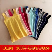 Wholesale Womens Plain Cotton Slim Vest