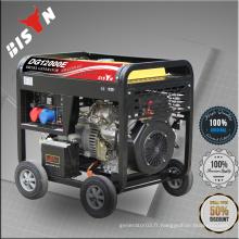 BISON Chine Taizhou BS6500DCE Big Fuel Tank Low Noise Générateur diesel de 5,0 kW à 8,5 kW