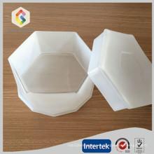 Pots de bougies en verre de couleur blanc givré avec couvercle