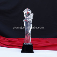 Professional manufacture cheap custom crystal award trophy