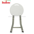 Best sell portable comfortable plastic folding round stool