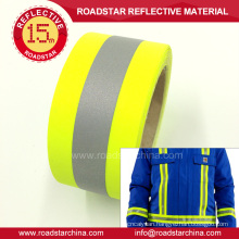 hi vis fluorescent reflective T/C tape for vest