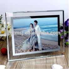 2016High quality color crystal photo frame for wedding gift