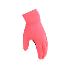 Pink glove women outdoor winter all season breathable