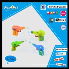 Verão brinquedo transparente mini pistola de água de plástico