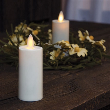 electric glass flameless moving wick led votive candle