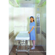 Hochwertiger Maschinenraum Bett Aufzug mit haarlosen Edelstahl