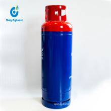 Tanzania 45kg Steel Gas Cylinder/Bottle with Brass Valve, Portable Empty LPG Gas Cylinder