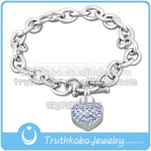 316L de aço inoxidável comprimento expansível bangle para o coração pingente de cremação de jóias
