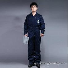 65% poliéster 35% algodón con cremallera frontal de manga larga ropa de trabajo de seguridad (BLY1015)