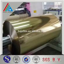 PET Gold Metalized Film Roll