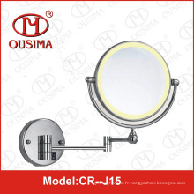 Miroir de maquillage pliant à double face moulé