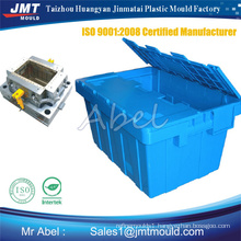 Folding injection crate mould