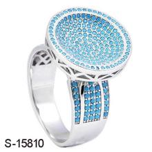 Novo Design de Moda Jóias 925 Anel de Prata Esterlina com Pedra de Turquesa