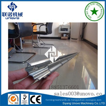 0.4mm denken galvanisierter Stahl ovaler Rohr