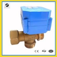female thread dn15 dn20 brass 3-way motorized ball valve