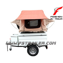 Cargo trailer small camper trailer OF1 Colorful