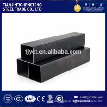 SS400 Q235 ST37 a soudé le tuyau en acier carré de tube en acier de carbone / tube