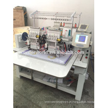 bordado computadorizado 2 cabeça máquina de bordar com alta qualidade preço de fábrica
