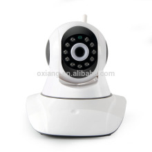 720P HD visión nocturna mini pan tilt zoom wifi cámara ip para el sistema de seguridad para el hogar
