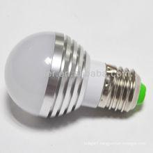 china manufacture 3W 3leds e27 round shap LED bulb