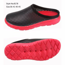EVA Sole PVC Upper Men and Women Holey Upper Clogs Hospital Safety Slipper Shoe