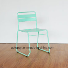 (SP-MC097) Wholesale Stackable Mint Green Metal Chair for Balcony Restaurant