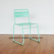 (СП-MC097) Оптовая Стекируемых Мятно-зеленый металлический стул на балкон ресторан