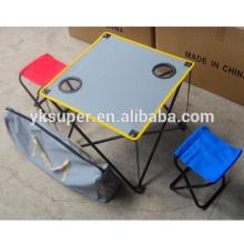 Cadeira de piquenique portátil e conjunto de mesa para camping exterior