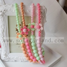 Sun Flower Acrylic Beads Bubblegum Necklace